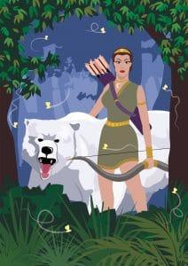 Artemis Bear Huntress