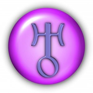 Planet Glyphs Button - Uranus (Include Clipping Path)