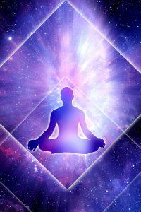 Meditate peace purple rays