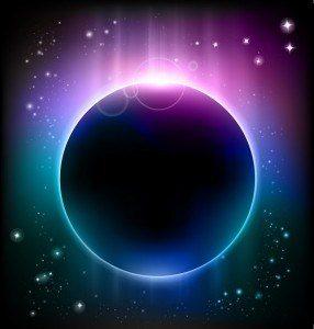 solar eclipse purple blue sky