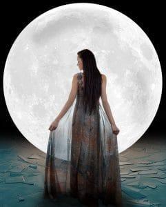 full moon goddess mirror reflect illumination