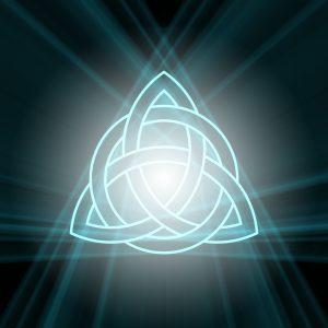 celtic trinity knot light flame